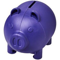 Oink small piggy bank, GPPS Plastic, Purple