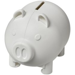 Oink small piggy bank, GPPS Plastic, White