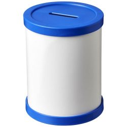 Rafi round money container, GPPS Plastic, Blue