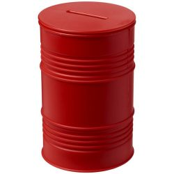 Banc oil drum money pot, GPPS Plastic, Red