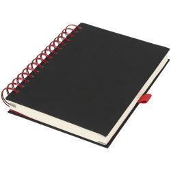 Agenda A5 cu pagini dictando, coperta cu spirala, Everestus, WO02, pu, metal, negru, rosu
