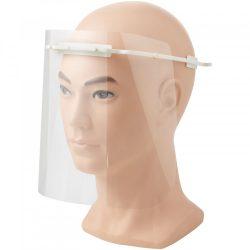 Vizor de protectie pentru fata, Mediu, 15,7x21x17,9 cm, MNB, 20SEP0097, ABS, Plastic, Alb