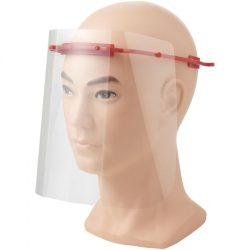 Vizor de protectie pentru fata, Mediu, 15,7x21x17,9 cm, MNB, 20SEP0094, ABS, Plastic, Rosu