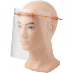 Vizor de protectie pentru fata, Mediu, 15,7x21x17,9 cm, MNB, 20SEP0092, ABS, Plastic, Portocaliu