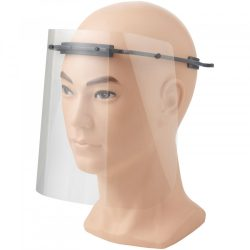 Vizor de protectie pentru fata, Mediu, 15,7x21x17,9 cm, MNB, 20SEP0090, ABS, Plastic, Gri