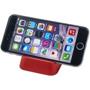 Suport telefon de birou, simplu, STT149, plastic, rosu