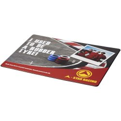 Brite-Mat® mouse mat with tyre material, Laminated paper, recycled plastics, and tyre material, solid black