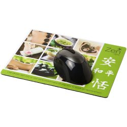 Q-Mat® rectangular mouse mat, EVA foam, laminated paper, solid black