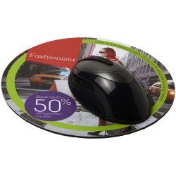 Q-Mat® round mouse mat, EVA foam, laminated paper, solid black