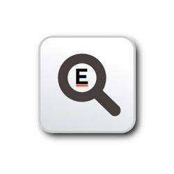 Brite-Clock® rectangular wall clock, Laminated paper and recycled plastics, White
