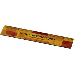 Terran 15 cm ruler with 100% recycled plastic, Recycled plastic, solid black