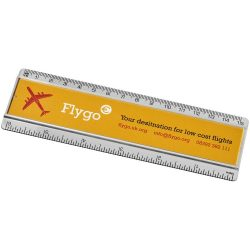 Ellison 15 cm plastic ruler with paper insert, GPPS Plastic, transparent clear