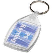 Breloc cu clips, Everestus, KR0587, plastic, transparent