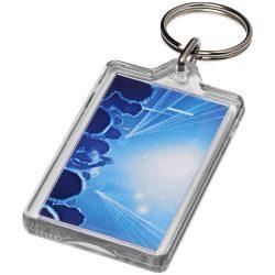Breloc dreptunghiular, KR0596, plastic, transparent