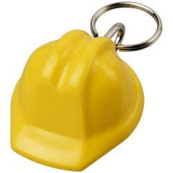 Breloc casca constructor, Everestus, KR0568, plastic, galben