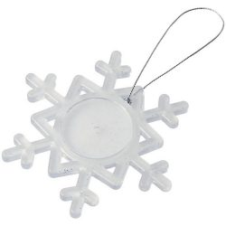 Elssa snowflake ornament, GPPS Plastic, frosted clear,White
