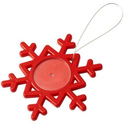 Elssa snowflake ornament, GPPS Plastic, Red