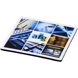 Q-Mat® square coaster, EVA foam and laminated paper, solid black