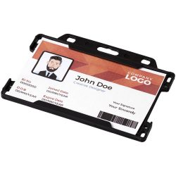 Vega plastic card holder, GPPS Plastic, solid black