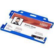Vega plastic card holder, GPPS Plastic, Blue