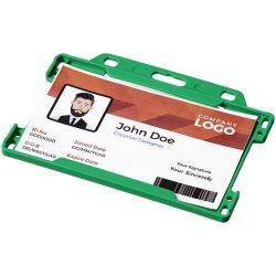 Vega plastic card holder, GPPS Plastic, Green