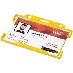 Vega plastic card holder, GPPS Plastic, Yellow