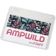 Arell clear plastic ID pouch, GPPS Plastic, transparent clear