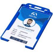 Pierre transparent badge holder, GPPS Plastic, Blue