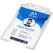 Pierre transparent badge holder, GPPS Plastic, transparent clear