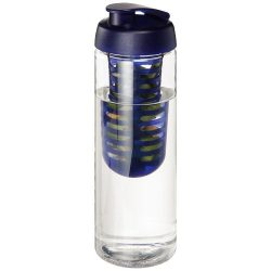 H2O Vibe 850 ml flip lid bottle & infuser, PET Plastic, PP Plastic, Transparent,Blue