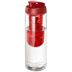 H2O Vibe 850 ml flip lid bottle & infuser, PET Plastic, PP Plastic, Transparent,Red