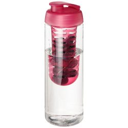 H2O Vibe 850 ml flip lid bottle & infuser, PET Plastic, PP Plastic, Transparent,Pink