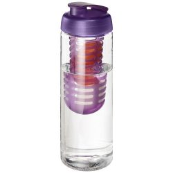 H2O Vibe 850 ml flip lid bottle & infuser, PET Plastic, PP Plastic, Transparent,Purple