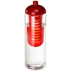 H2O Vibe 850 ml dome lid bottle & infuser, PET Plastic, PP Plastic, Transparent,Red