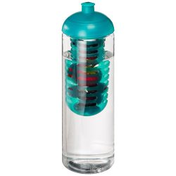 H2O Vibe 850 ml dome lid bottle & infuser, PET Plastic, PP Plastic, Transparent,aqua blue