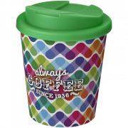 Cana de voiaj Espresso, 250 ml, 12xø9,5 cm, Americano, 20SEP0839, Polipropilena, Alb, Verde