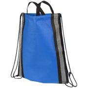 Reflective non-woven drawstring backpack, Non-woven polypropylene, Royal blue
