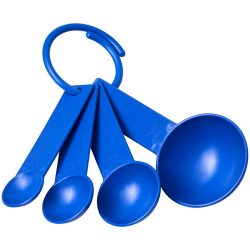 Ness plastic measuring spoon set with 4 sizes, PP Plastic, Blue