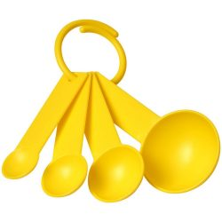 Ness plastic measuring spoon set with 4 sizes, PP Plastic, Yellow