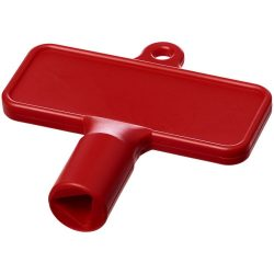 Maximilian rectangular universal utility key, ABS Plastic, Red
