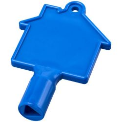 Maximilian house-shaped meterbox key, ABS Plastic, Blue
