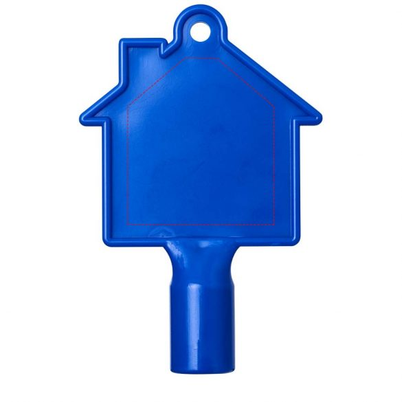 Maximilian house-shaped meterbox key, ABS Plastic, Blue