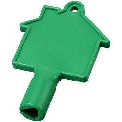 Maximilian house-shaped meterbox key, ABS Plastic, Green
