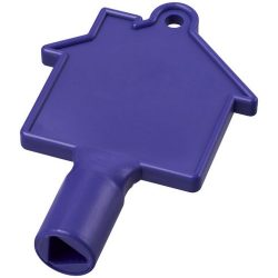 Maximilian house-shaped meterbox key, ABS Plastic, Purple