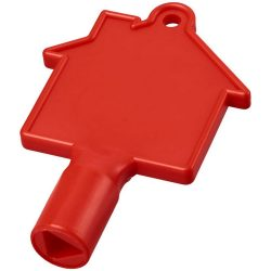 Maximilian house-shaped meterbox key, ABS Plastic, Red