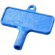 Largo plastic radiator key, Polycarbonate, Blue
