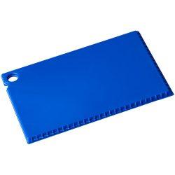 Coro credit card sized ice scraper, GPPS Plastic, Blue