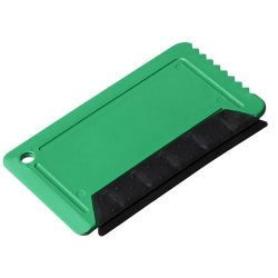 Freeze credit card sized ice scraper with rubber, GPPS Plastic, Green