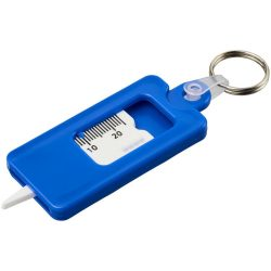 Kym tyre tread check keychain, ABS Plastic, Blue