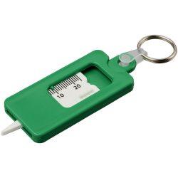 Kym tyre tread check keychain, ABS Plastic, Green